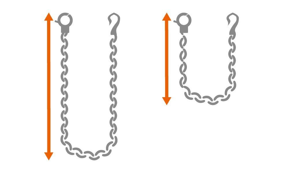 金属ウォレットチェーンは、お好みの長さに変更することができます。