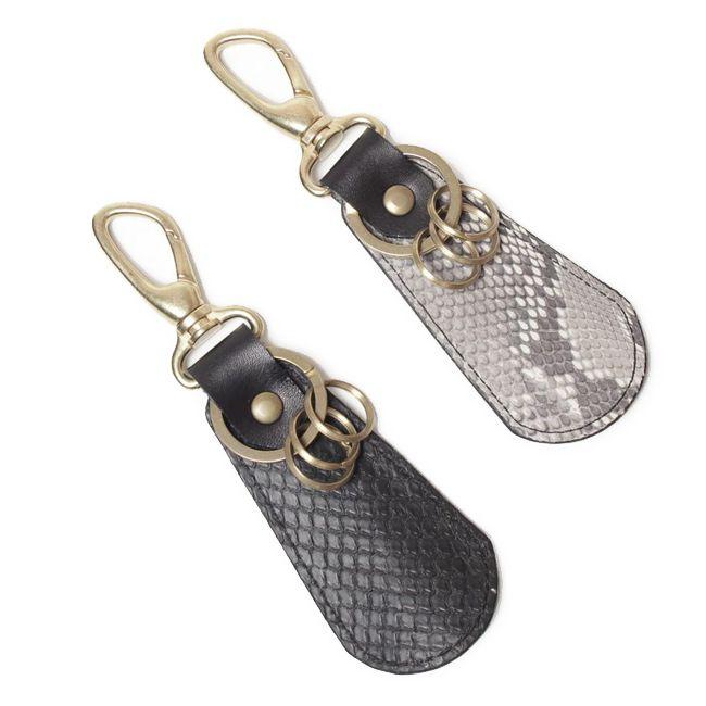 キーホルダー,鍵,靴ベラ,小物,ヘビ革,パイソン,レザー,エキゾチック,革製品,メンズ
