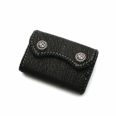 サメ革,シャーク,スキン,レザー,二つ折り財布,ミニウォレット,小さい財布