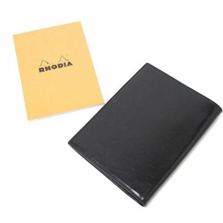 S'FACTORY(エスファクトリー)「Rhodia レザーメモカバー No.16 A5サイズ カウレザー ブラック(牛革)」商品画像