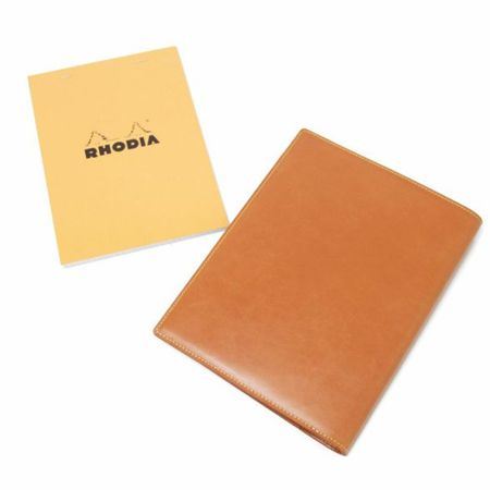 S'FACTORY(エスファクトリー)「Rhodia レザーメモカバー No.16 A5サイズ カウレザー キャメル(牛革)」商品画像