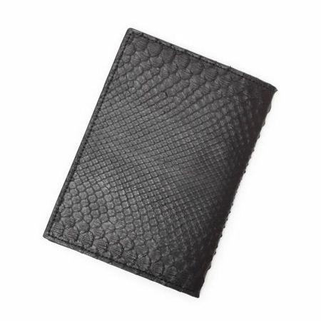 S'FACTORY(エスファクトリー)「レザーブックカバー 文庫本サイズ ブラックパイソン(ヘビ革)」商品画像
