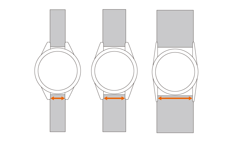 お使いの文字盤に合わせたサイズ変更,腕時計,ベルト,ストラップ,革,レザー,メンズ
