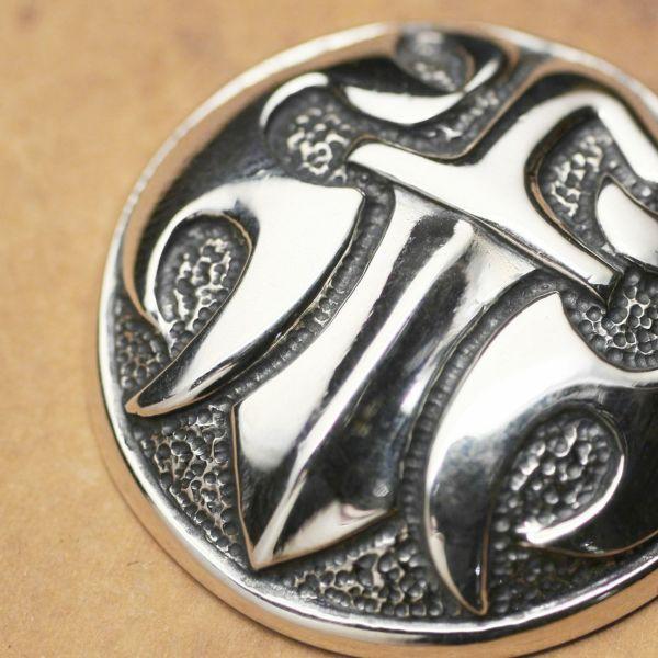 レザーブランドS'FACTORY ダガーコンチョ大 Silver925 バイカーズ ウォレット カスタム パーツ