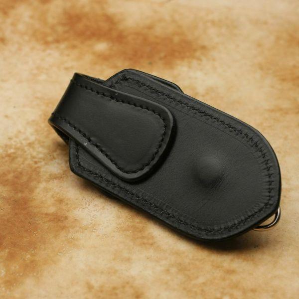 レザーブランドS'FACTORY キーリング&ループ カウレザー ブラック(牛革)バイカーズ ベルトループ