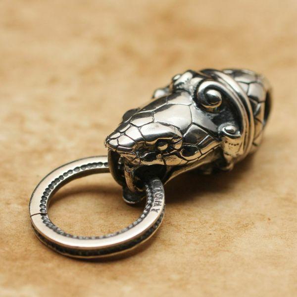 レザーブランドS'FACTORY コブラリングヘッド ペンダントトップ Silver925 メンズ アクセサリー ネックレス