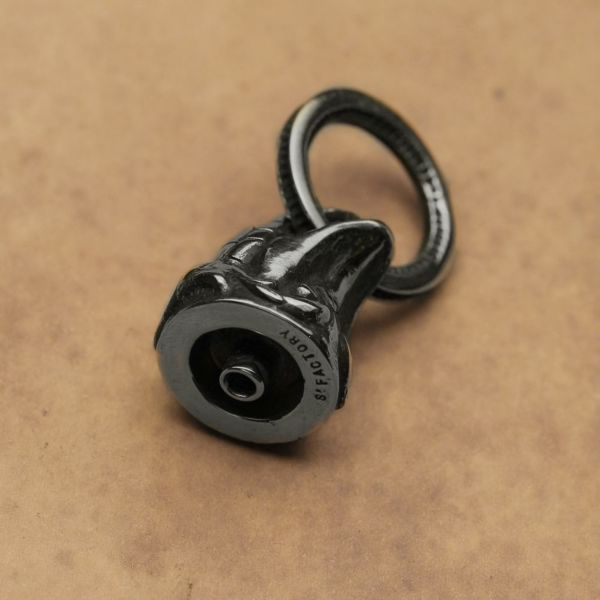 レザーブランドS'FACTORY ドロップハンドル コブラ Silver925 バイカーズ ウォレット カスタム パーツ
