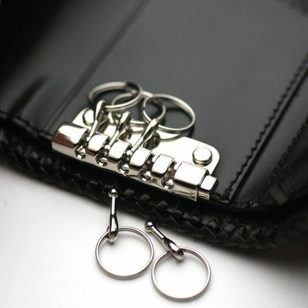 レザーブランドS'FACTORY キーウォレット シャーク(サメ革) メンズ革財布