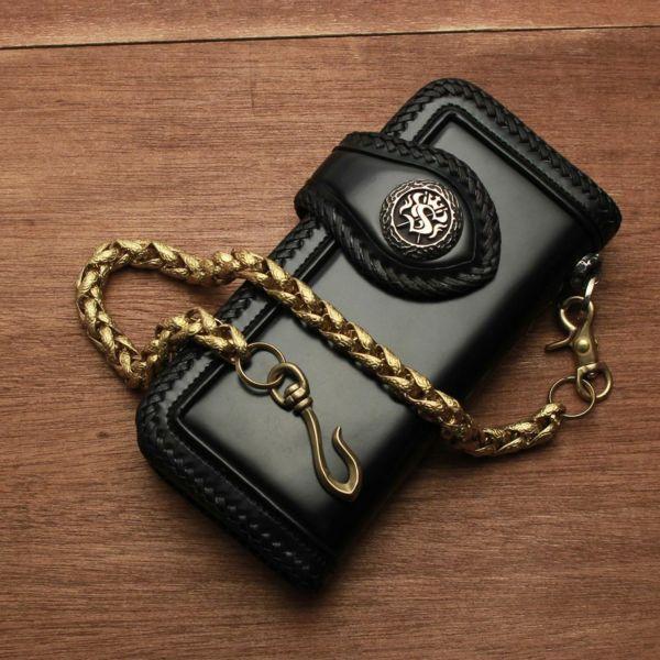 真鍮,ウォレットチェーン,インフィニティー,財布,ゴールド,シルバー,ブラス,ショート,短い