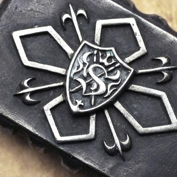 レザーブランドS'FACTORY エンブレム バックル Silver925 ベルト シルバー