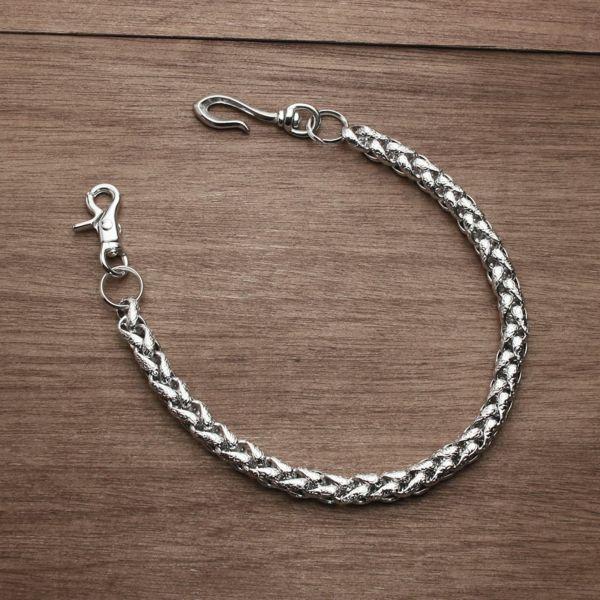 レザーブランドS'FACTORY ウォレット チェーン インフィニティー シルバー ブラス(真鍮)アクセサリー