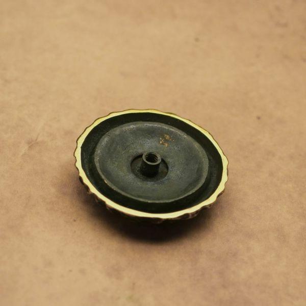 レザーブランドS'FACTORY スカル コンチョ ブラス(真鍮) バイカーズ ウォレット カスタム パーツ