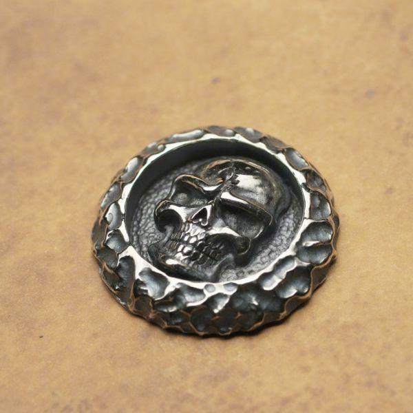 レザーブランドS'FACTORY スカル コンチョ Silver925 バイカーズ ウォレット カスタム パーツ