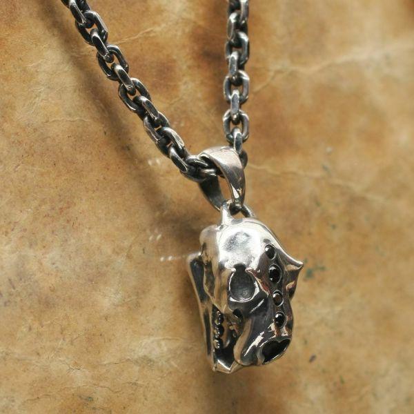レザーブランドS'FACTORY ライオンスカル ペンダントトップ Silver925 メンズ アクセサリー ネックレス