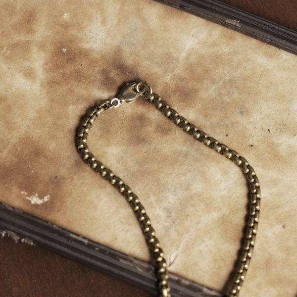 レザーブランドS'FACTORY ネックレスチェーン Brass メンズ アクセサリー ネックレス