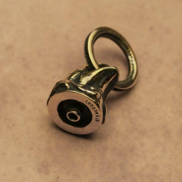レザーブランドS'FACTORY ドロップハンドル コブラ ブラス(真鍮)バイカーズ ウォレット カスタム パーツ