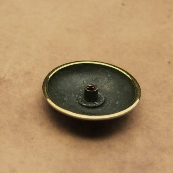 レザーブランドS'FACTORY ダガーコンチョ大 ブラス(真鍮) バイカーズ ウォレット カスタム パーツ