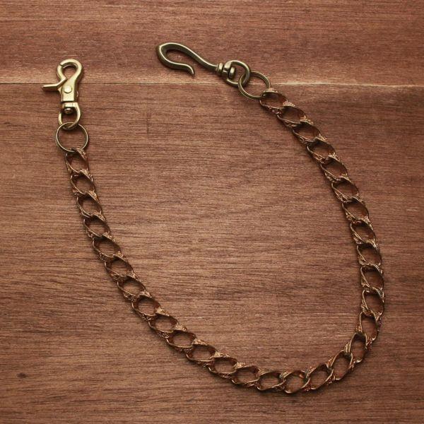 レザーブランドS'FACTORY ウォレット チェーン アラベスク ゴールド 赤銅 アクセサリー