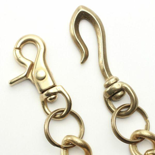レザーブランドS'FACTORY ウォレット チェーン スタンダード ゴールド ブラス(真鍮)アクセサリー