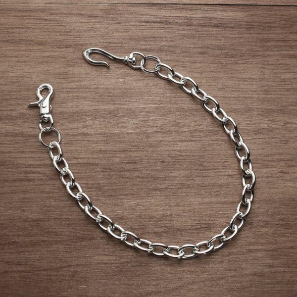 レザーブランドS'FACTORY ウォレット チェーン リング シルバー ブラス(真鍮)アクセサリー