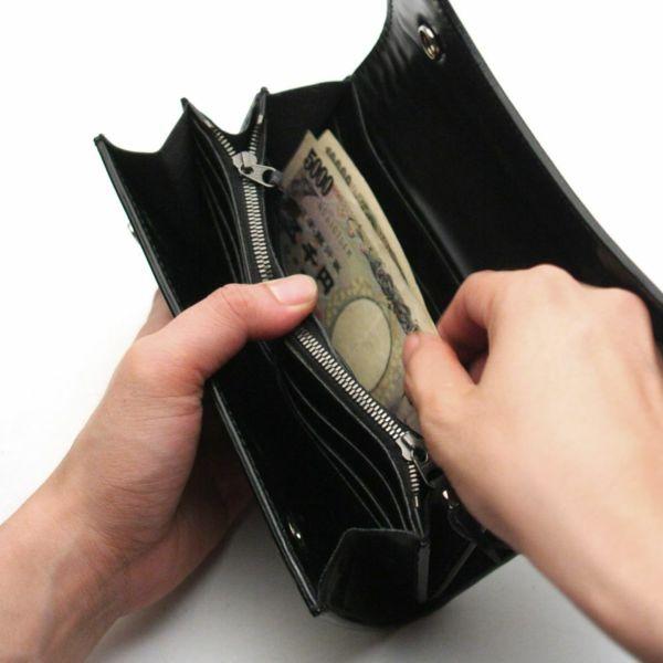 レザーブランドS'FACTORY 2スナップロングウォレット イエローパイソン(ヘビ革)革財布
