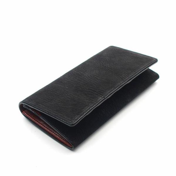 レザーブランドS'FACTORY ロングウォレット シャーク(サメ革)革財布