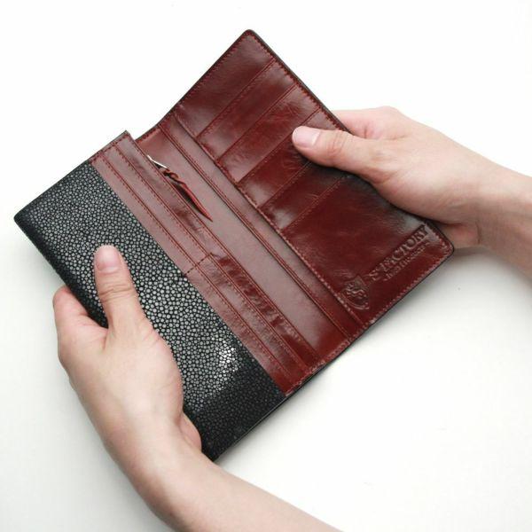 レザーブランドS'FACTORY ロングウォレット スティングレー(エイ革)革財布