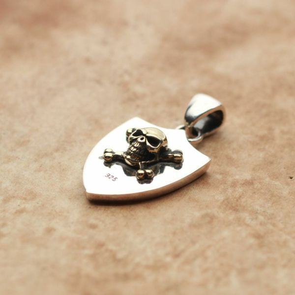 レザーブランドS'FACTORY エンブレム ペンダントトップ Silver925 メンズ アクセサリー ネックレス