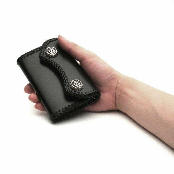 レザーブランドS'FACTORY マイクロウォレット カウレザー ブラック(牛革) メンズ革財布