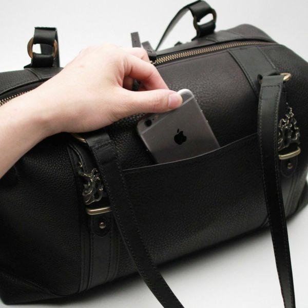 レザーブランドS'FACTORY BURNOUT ミニボストンバッグ カウレザーブラック(牛革)メンズ レザー ボディ バッグ