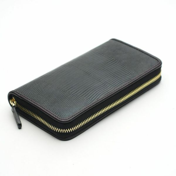 レザーブランドS'FACTORY フリースタイル ファスナーウォレット リザード(トカゲ革)メンズ革財布