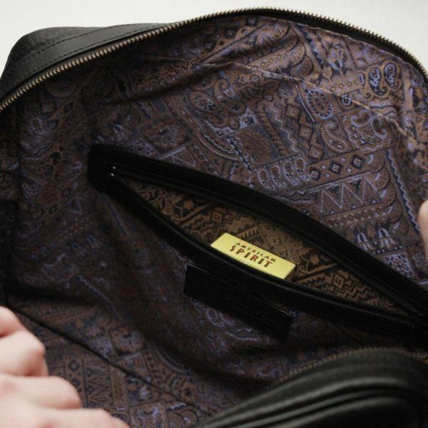 レザーブランドS'FACTORY BURNOUT ブリーフケース カウレザー ブラック(牛革)メンズ レザー ボディ バッグ