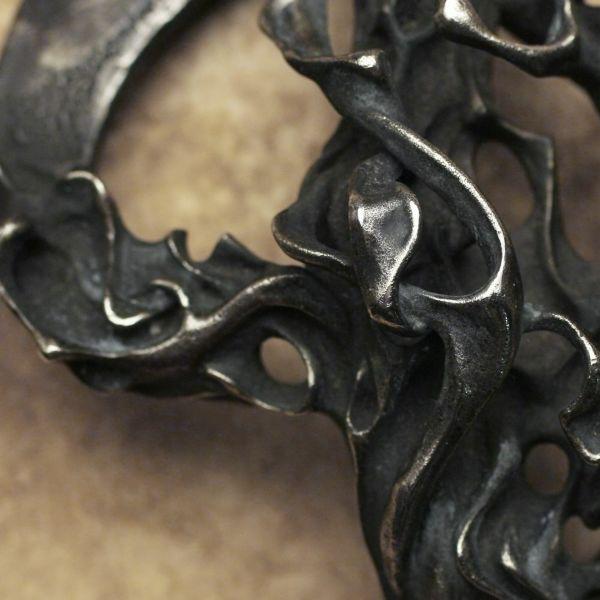 レザーブランドS'FACTORY BURN OUT バックル 白銅(キュプロニッケル)ベルト シルバー Animal Worship Silver
