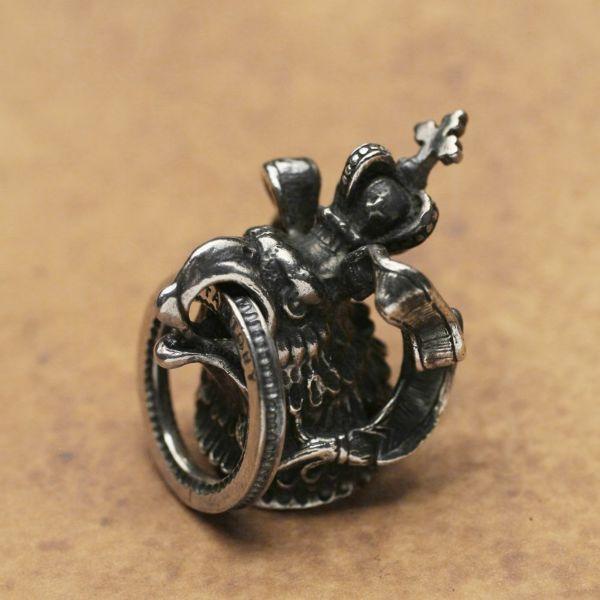 レザーブランドS'FACTORY ドロップハンドル イーグル ブラス(真鍮) バイカーズ ウォレット カスタム パーツ