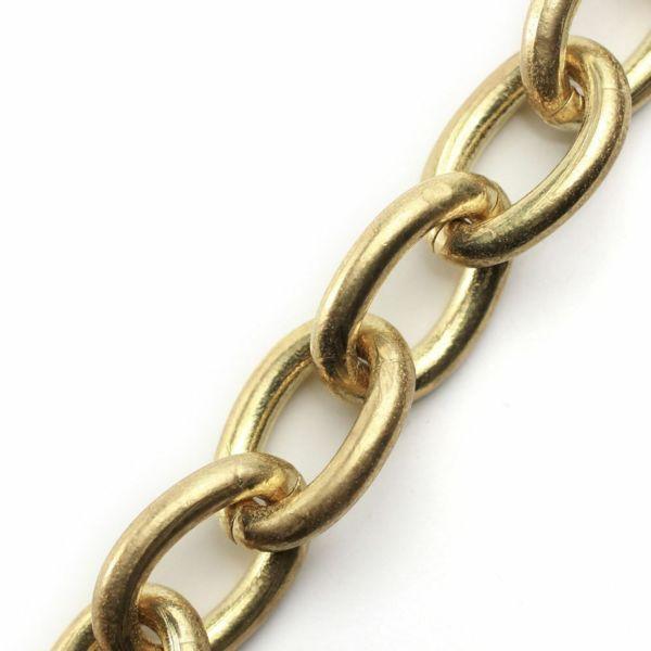 レザーブランドS'FACTORY キーリング ショート ウォレット チェーン コブラ リング ゴールド ブラス(真鍮)アクセサリー 短い
