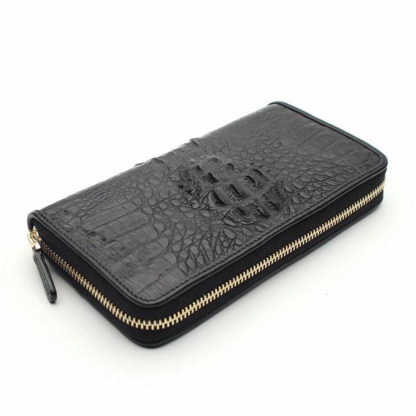 レザーブランドS'FACTORY フリースタイル ファスナーウォレット クロコダイル(ワニ革)メンズ革財布