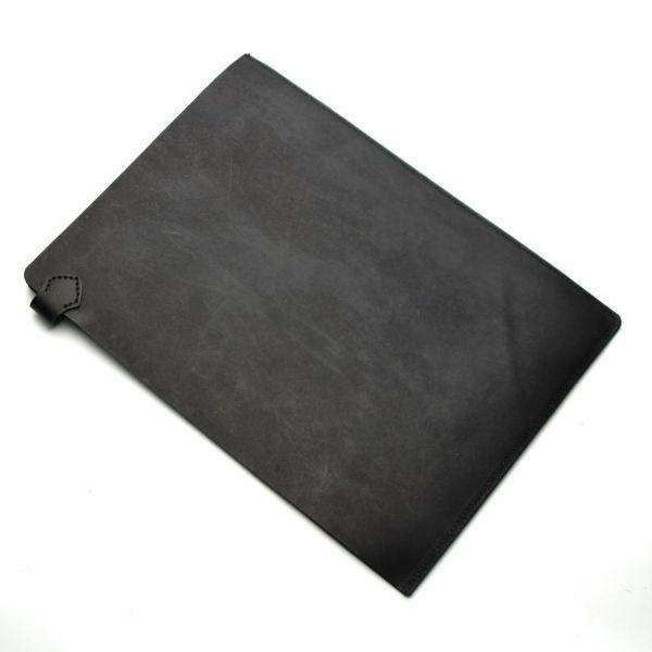 レザーブランドS'FACTORY A4レザーファイル カウレザー ブラック(牛革)革小物 書類入れ 栃木レザー