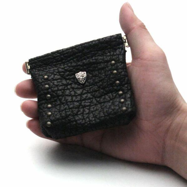 レザーブランドS'FACTORY ワンタッチコインケース シャーク(サメ革)革小物 小銭入れ