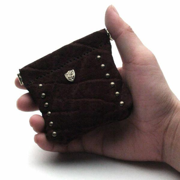 レザーブランドS'FACTORY ワンタッチコインケース ボルドーエレファント(ゾウ革)革小物 小銭入れ