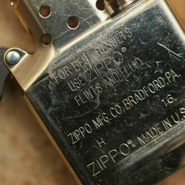 レザーブランドS'FACTORY オリジナル オイルライター ブラス(真鍮)喫煙具 ゴールド