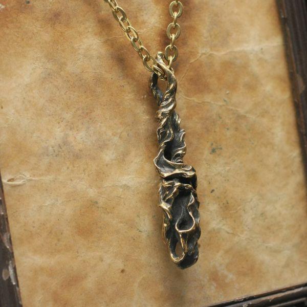 レザーブランドS'FACTORY BURNOUT ペンダントトップ ブラス(真鍮) メンズ アクセサリー ネックレス Animal Worship Silver
