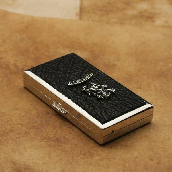 レザーブランドS'FACTORY メタルシガレットケース 12本タイプ シャーク(サメ革)革小物 タバコ入れ