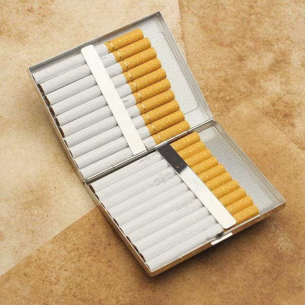 レザーブランドS'FACTORY メタルシガレットケース 20本タイプ シャーク(サメ革)革小物 タバコ入れ