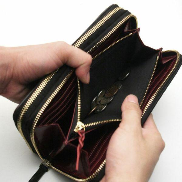 レザーブランドS'FACTORY ダブルジップウォレット クロコダイル ビンテージホワイト(ワニ革)メンズ革財布