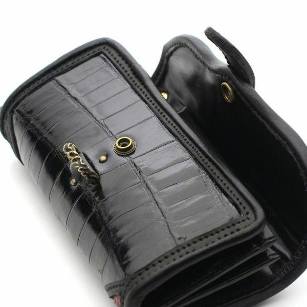 レザーブランドSIXTHSENSE ワンスナップウォレット クロコダイル(ワニ革)革財布