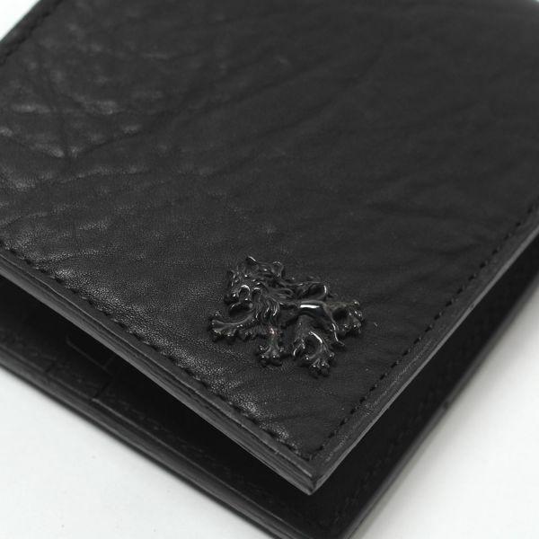 レザーブランドS'FACTORY 二つ折り レザーショート ウォレット バッファロー(水牛革) メンズ革財布