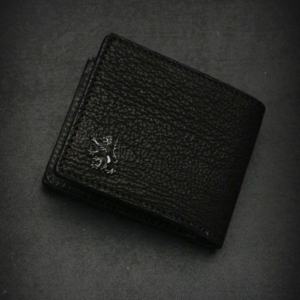 レザーブランドS'FACTORY 二つ折り レザーショート ウォレット シャーク(サメ革) メンズ革財布