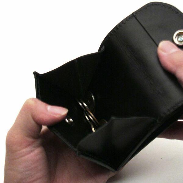 レザーブランドS'FACTORY ビルフォールド ウォレット ブラックパイソン(ヘビ革) メンズ革財布