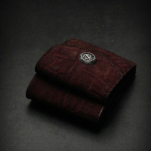 レザーブランドS'FACTORY ビルフォールド ウォレット ボルドーエレファント(ゾウ革) メンズ革財布