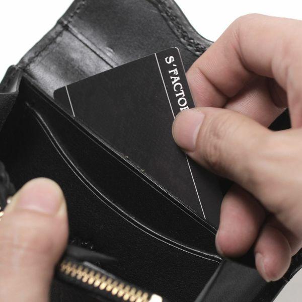 レザーブランドS'FACTORY スマート ショート ウォレット バッファロー(水牛革) メンズ革財布
